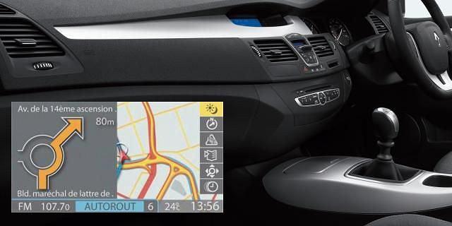 Nawigacja Renault / wnętrze nowego Renault Laguna LHD
