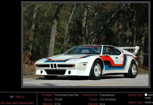 BMW M1 w wersji