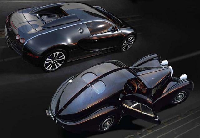 Bugatti Veyron Sang Noir & Bugatti 57 Atlantic