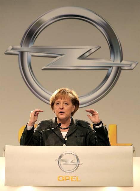 Wizyta kanclerz Niemiec Angeli Merkel w centrali firmy Opel w Russelsheim, 31.03.2009r.