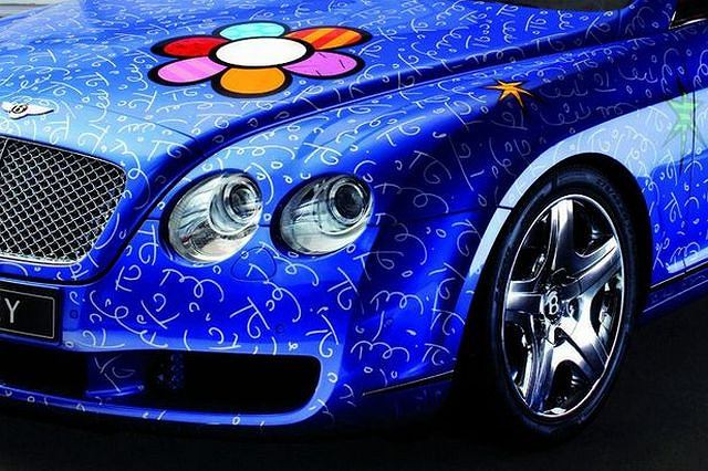 Bentley Continental GT pomalowany przez Romero Britto