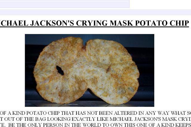 Chips w kształcie maski Jacksona? fot. za ebay.com
