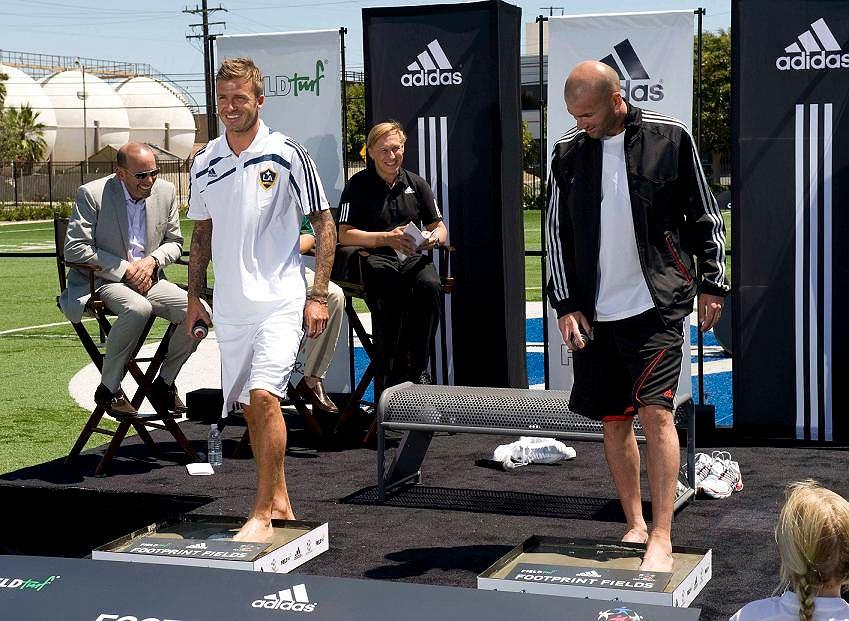 David Beckham i Zinedine Zidane