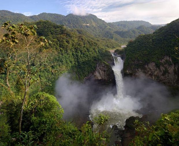 Wodospad San Rafael W Ekwadorze