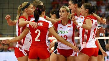Polskie siatkarki. Druga z lewej Mariola Zenik, która nie pojedzie na turniej kwalifikacyjny do Ankary.