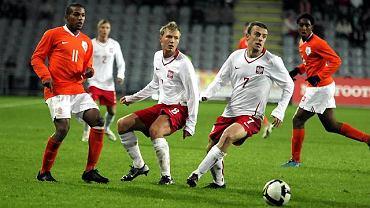 Mecz reprezentacji U-21 Polska Holandia. Kamil Grosicki
