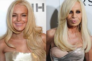Podczas oglądania tych zdjęć dosłownie zrobiło nam się gorąco - bynajmniej nie z zachwytu, a z przerażenia. Lindsay Lohan i Donatella Versace - dwa chodzące straszydła, które pojawiły się na imprezie magazynu ELLE. Uwaga! Oglądanie tych zdjęć naprawdę boli!