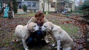 Monika Wróblewska z psami