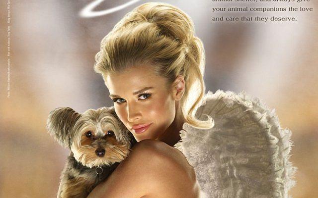 Joanna Krupa w kampanii PETA nawołującej do adoptowania zwierzą