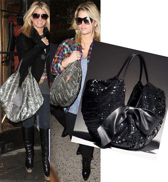 Jessica Smpson z torebką Valentino