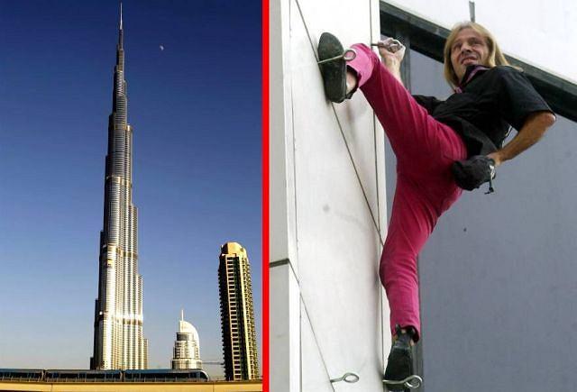 Najwyższy budynek świata kontra człowiek pająk Fot. AP/Fotomontaż gazeta.pl
