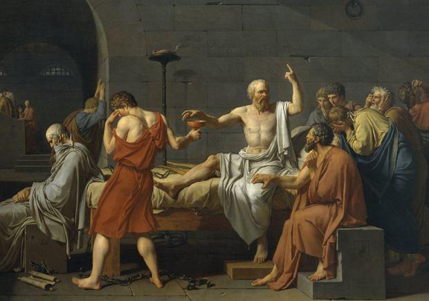 Śmierc Sokratesa, Jacques-Louis David