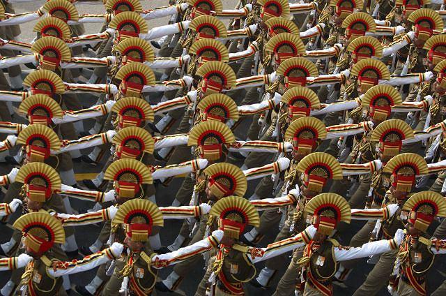 Fot. Parada wojskowa w Indiach Fot. AP/Mustafa Quraishi