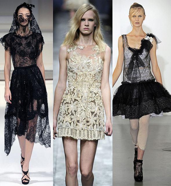 od lewej: projekt Oscar de la Renta, projekt Valentino, projekt Nina Ricci