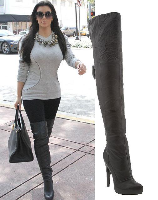 Kim Kardashian w ulubionych butach