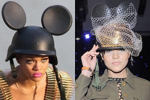 Z lewej oryginał, czyli Rihanna. Z prawej Dominika Gawęda. Podziwiamy szczerość naszej gwiazdki. Jednak czy kopiowanie Rihanny na pewno wyszło jej na dobre?