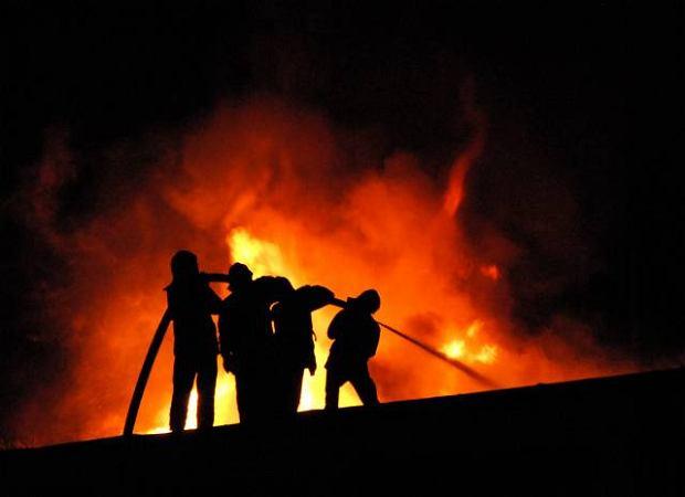 Pożar zakładów na Gnaszynie