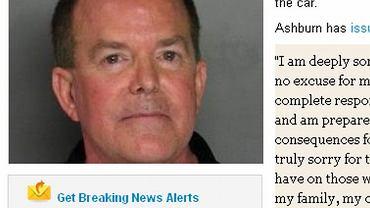 Roy Ashburn został aresztowany za jazdę po pijanemu. Wcześniej przeciwnik praw homoseksualistów odwiedził klub gejowski