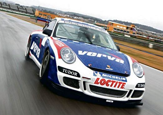 Porsche 911 GT3 Cup na testach na torze w Walencji
