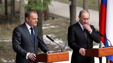 Donald Tusk, Władimir Putin