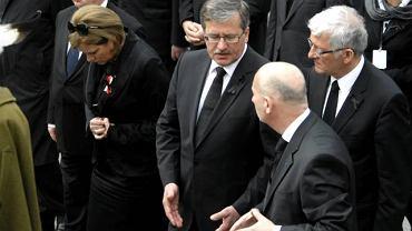 Marszałek Bronisław Komorowski na pogrzebie pary prezydenckiej