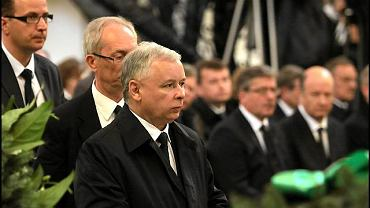 Na pogrzebie prezesa NBP Sławomira Skrzypka był obecny prezes PiS Jarosław Kaczyński