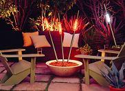 Oświetlenie ogrodu, światło w ogrodzie, lampa ogrodowa