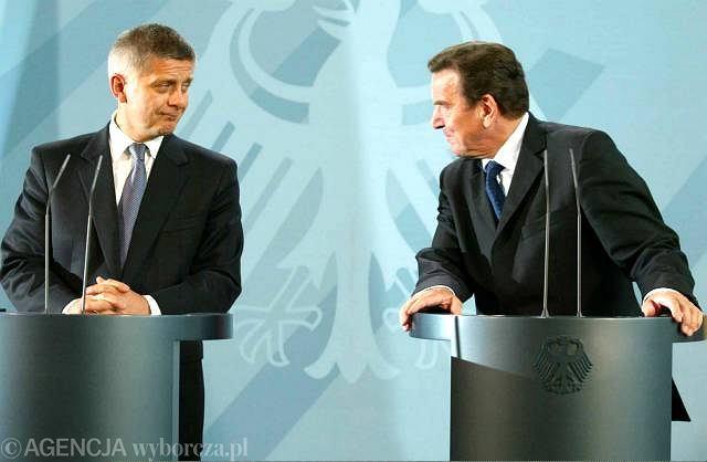 Wrzesień 2004, Berlin, spotkanie premiera Marka Belki z kanclerzem Gerhardem Schroederem w sprawie reparacji