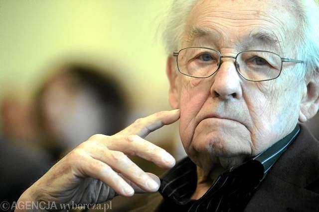Andrzej Wajda. 18 marca 2010 r., debata o mediach publicznych w Warszawie.