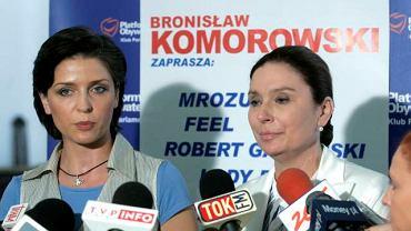 Joanna Mucha (L) i Małgorzata Kidawa-Błońska
