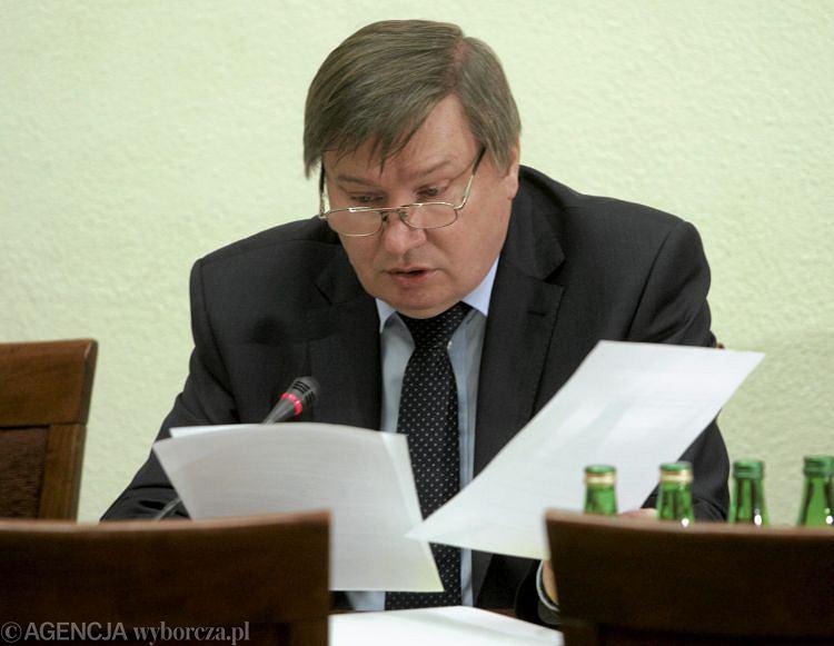 Szef MSWiA Jerzy Miller