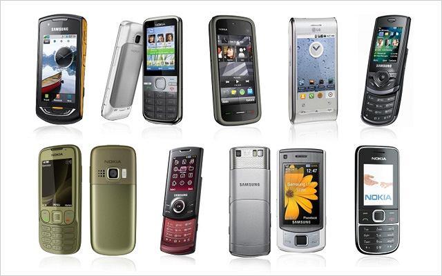 Kolaż telefonów
