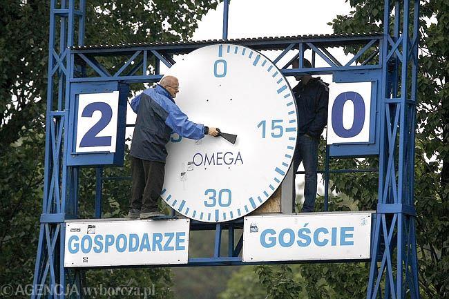 Zabytkowa Omega ze stadionu Ruchu Chorzów