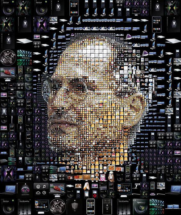 Wizerunek Steve'a Jobsa z ikon Apple