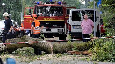 Usuwanie skutków burzy w Niemczech, 17.07.2010