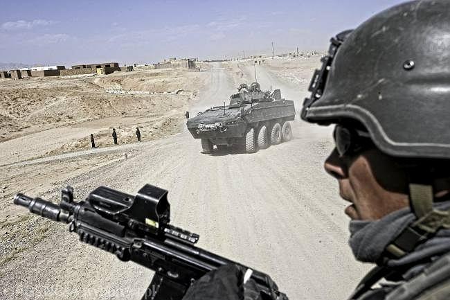Patrol Polaków w Ghazni. Zdjęcie z września 2009