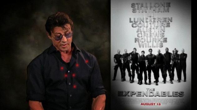 Sylvester Stallone reklamuje film