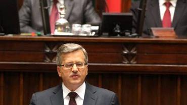Bronisław Komorowski wygłasza orędzie