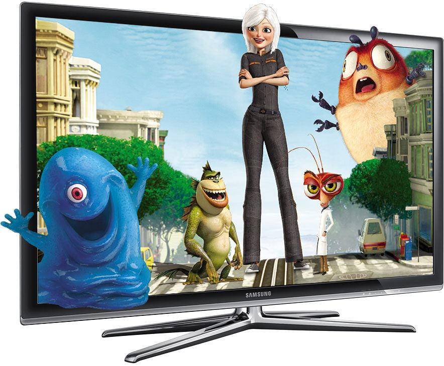Potwory kontra Obcy na Samsung UE40C7000