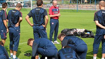 Trening reprezentacji Polski na stadionie w Szczecinie