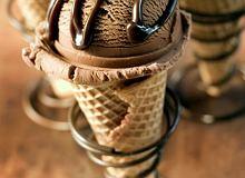 Lody z polewą kawową - ugotuj