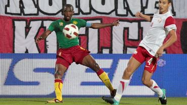Polska - Kamerun. Samuel Eto'o i Maciej Sadlok