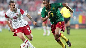 Ludovic Obraniak w czasie meczu Polska - Kamerun rozgrywanego w Szczecinie