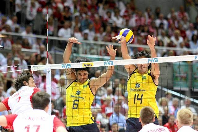 Brazylijczycy w meczu z Polską