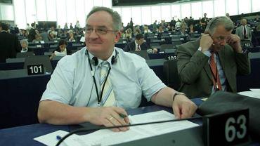 Jacek Saryusz-Wolski podczas obrad PE