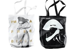 Lady Gaga na torebkach H&M