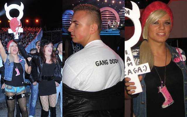Doda w Opolu miała niezły doping. Pod sceną dostrzec można było fanów w koszulkach