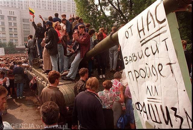 Demonstracje w czasie puczu Janajewa