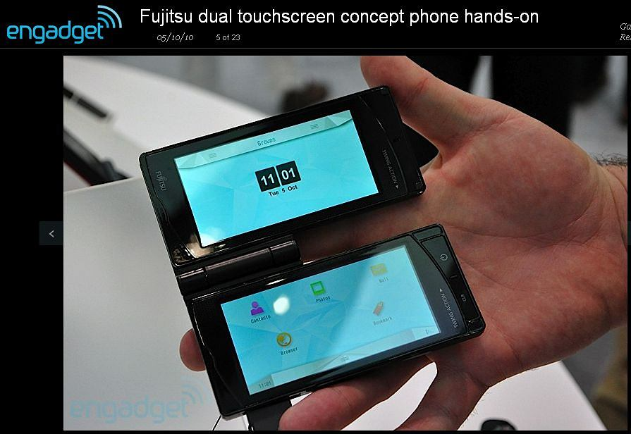 Prototyp telefonu Fujitsu z dwoma ekranami