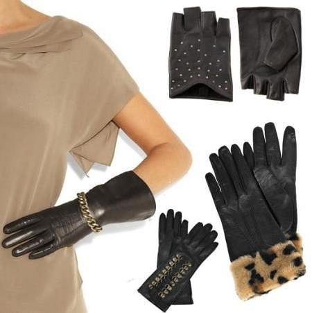 Czarne rękawiczki